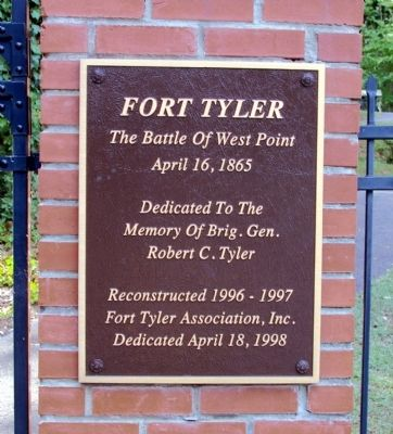 Fort Tyler Marker image. Click for full size.