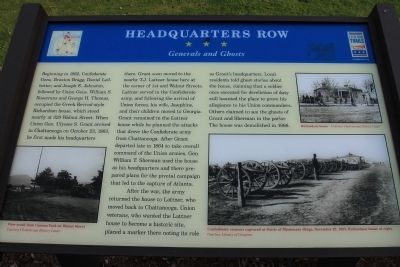 Headquarters Row Marker image. Click for full size.
