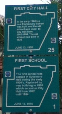 First City Hall / First School Marker image. Click for full size.