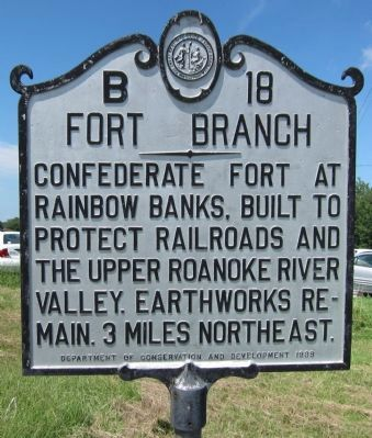 Fort Branch Marker image. Click for full size.