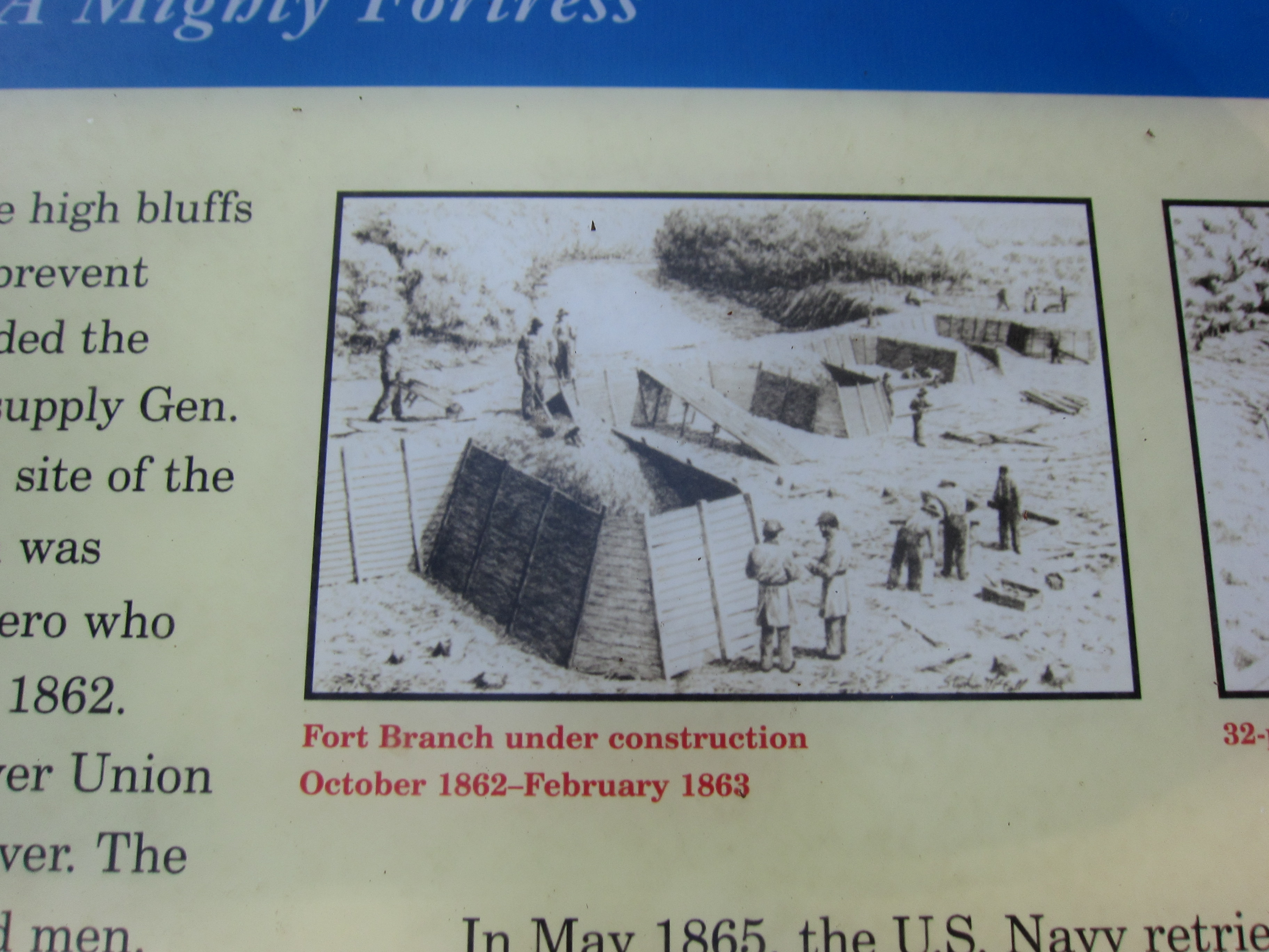 Fort Branch under construction, October 1862-February 1863