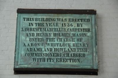A Court House Builder's Plaque image. Click for full size.