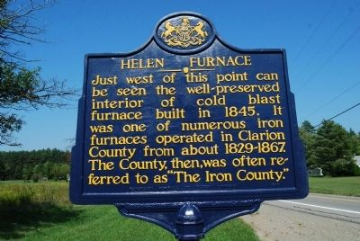 Helen Furnace Marker image. Click for full size.