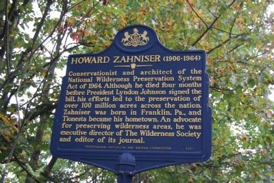 Howard Zahniser Marker image. Click for full size.