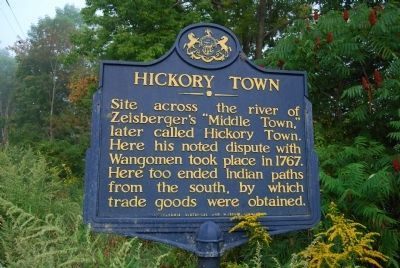 Hickory Town Marker image. Click for full size.