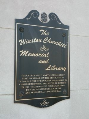The Winston Churchill Memorial and Library Marker image. Click for full size.