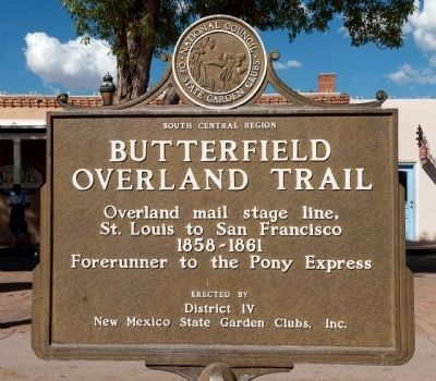Butterfield Overland Trail Marker image. Click for full size.