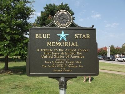 Blue Star Memorial next to the Marker image. Click for full size.