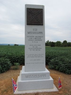 11th Mississippi Infantry Regiment Marker image. Click for full size.