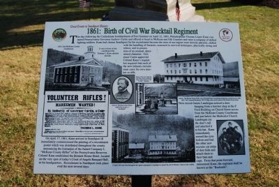 1861: Birth of Civil War Bucktail Regiment image. Click for full size.