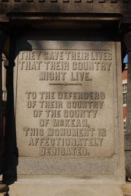 McKean County Civil War Monument image. Click for full size.