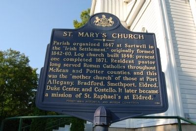 St. Mary's Church Marker image. Click for full size.