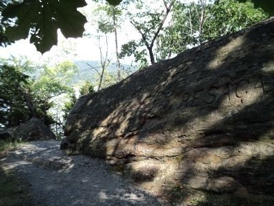 Marker on West Point Trail image. Click for full size.
