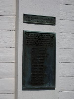 Washington Reformed Presbyterian Church Marker image. Click for full size.