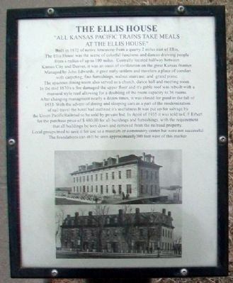 The Ellis House Marker image. Click for full size.