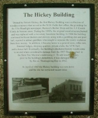 The Hickey Building Marker image. Click for full size.