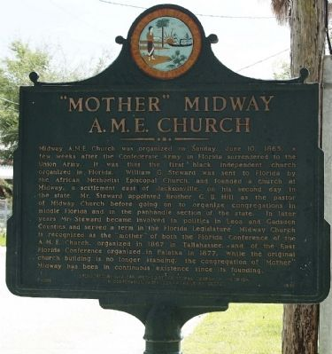 """Mother"" Midway A.M.E. Church Marker image. Click for full size."