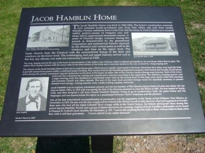Jacob Hamblin Home Marker image. Click for full size.