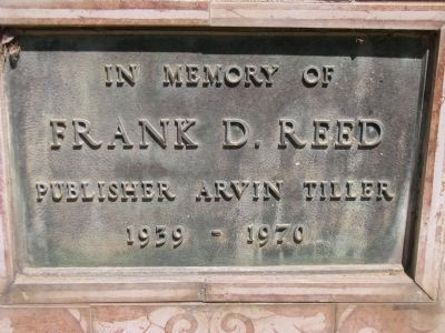 Frank D. Reed Marker image. Click for full size.