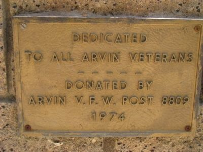 Arvins V.F.W Post 8809 image. Click for full size.