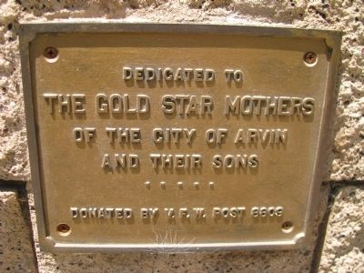 Gold Star Mother Marker image. Click for full size.