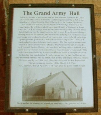 The Grand Army Hall Marker image. Click for full size.