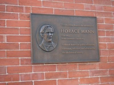 Horace Mann Marker image. Click for full size.