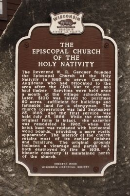 The Episcopal Church of the Holy Nativity Marker image. Click for full size.