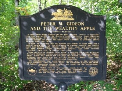 Peter M. Gideon and the Wealthy Apple Marker image. Click for full size.