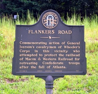 Flankers Road Marker image. Click for full size.