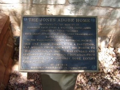 The Jones Adobe Home Marker image. Click for full size.