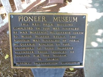 Pioneer Museum Marker image. Click for full size.