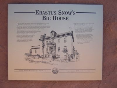 Erastus Snow's Big House Marker image. Click for full size.