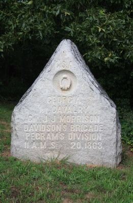 1st Georgia Cavalry Marker image. Click for full size.