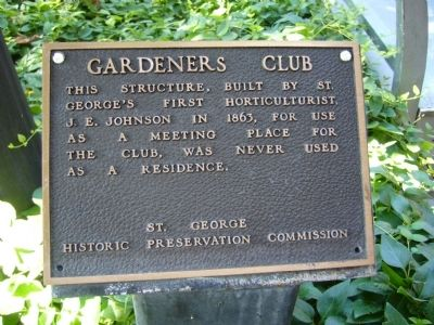 Gardeners Club Marker image. Click for full size.