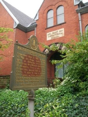 Presbyterian Church and Marker image. Click for full size.