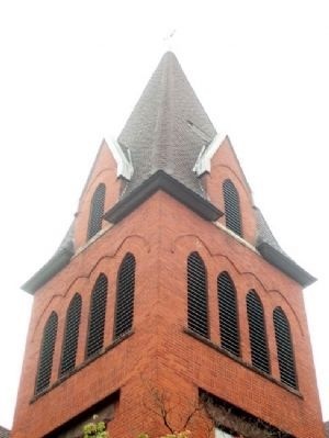 Presbyterian Church Steeple image. Click for full size.