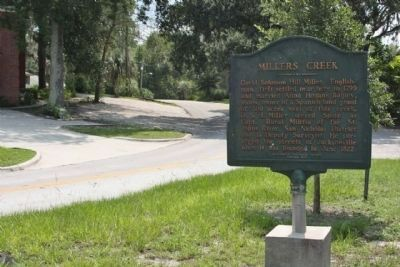 Millers Creek Marker at Mayfair Road image. Click for full size.