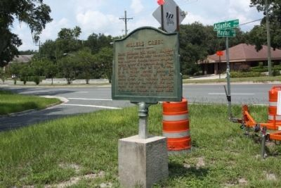 Millers Creek Marker along Atlantic Blvd (US 90) at Mayfair Road image. Click for full size.