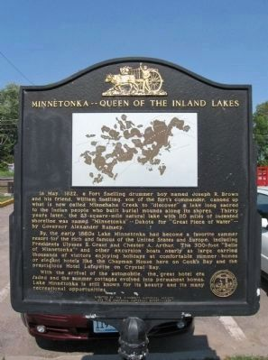 Minnetonka -- Queen of the Inland Lakes Marker image. Click for full size.