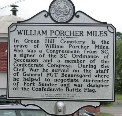 William Porcher Miles Marker image. Click for full size.