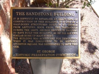 The Sandstone Building Marker image. Click for full size.