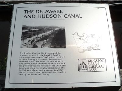 The Delaware and Hudson Canal Marker image. Click for full size.