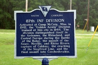 87th Inf Division Marker image. Click for full size.