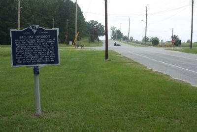 87th Inf Division Marker, looking north along Jackson Blvd. near Forest Drive image. Click for full size.