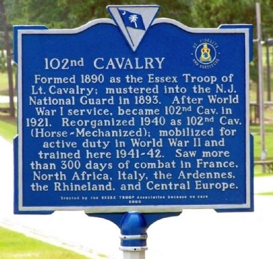 102nd Cavalry Marker image. Click for full size.