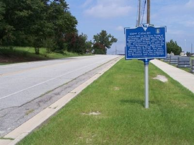 102nd Cavalry Marker, northbound Jackson Blvd image. Click for full size.