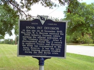 100th Inf Division Marker image. Click for full size.