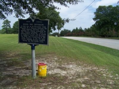 100th Inf Division Marker, looking north, Jackson Blvd. image. Click for full size.