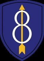 8th Infantry Division Shoulder Patch image. Click for full size.